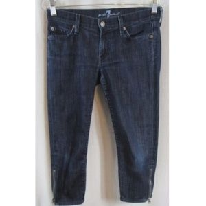 7 For All Mankind Zipper Ankle Cropped Jeans 27